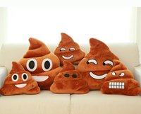 Wholesale Emoji Pillow Cute Shits Poop Stuffed Toy Doll cm Christmas Present Funny Plush Bolster Cojines Pillows Cushions
