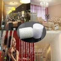 beaded crystal garland - 30M FT roll Dia mm Acrylic Disk Beaded Clear Imitate Crystal For Garland Strands Wedding Decoration Chandelier LJP