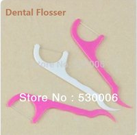 Wholesale White Pink Mixed Colors Fine Dental Floss Picks Waxed Teeth Toothpicks Stick Flossers Sword Oral Care Size in cm
