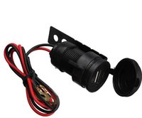 Wholesale 12V Waterproof Motorcycle USB Charger Mobile Phone Car Charger Power Adapter Black CARS0604