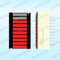 bargraph display - Segment LED Bargraph Wide Display mm Red