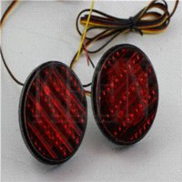 Wholesale For Toyota Sequoia DC V Parking warning Lamp Rear Bumper Reflector Light LED W red bulb