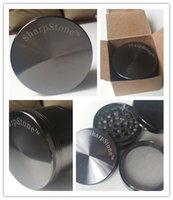 metal parts - 5pcs mm SharpStone Grinders For Herb Parts Hard Brand Tobacco Smoking Metal Zinc Alloy Grinders For Tobacco Colors