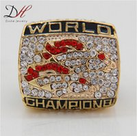 super bowl ring - 2015 fashion sport jewelry Super Bowl Denver Broncos Championship Ring World Series Alloy Rings For Fans Collection Custom big size