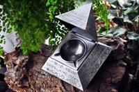 Wholesale Tin Egyptian Pyramids classic retro decorative carving ashtray Collection creative decoration BEST FOR GIFT for male