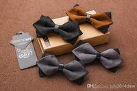 Wholesale PU Solid Color Bow Tie Adjustable BowTie Tuxedo Bowties for men wedding Formal