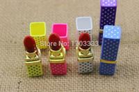 Wholesale Creative Design Colorful Portable Lighter Butane Flame Gas Point Lipstick Shape Lighter Model Cigarette Lighter
