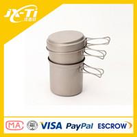 camping cooking pot set - durable Titanium cutlery set camping titanium pot ml ml Specialized Titanium pot camping cooking pan and cup