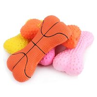 bb basketball - Pet products pet latex toys sound bones basketball convex point BB whistle toy