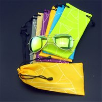 Wholesale AAAAA cmhot waterproof sunglasses pouch soft eyeglasses bag glasses case many colors mixed cm D123
