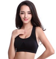 Wholesale Sports Bras lingerie Seamless Without Rims for A Comfortable Yoga Double Chest Pad Movement Racerback Breathable Bras Hot Sale