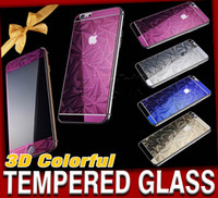 Cheap 3D colorful tempered Glass Best iPhone 6s