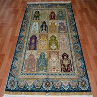 arab american - 4x6ft high quality Handmade pure silk Arab carpet rugs for hot