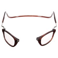 Wholesale 2015 AAA quality Unisex Folding Magnetic Magnifying Neck Hanging Reading Glasses with two color as a gift