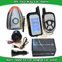 air light systems - cardot DIY two way car alarm system is with shock alarm and air pressure alarm wireless alarm siren LCD remote is with light and sound alarm