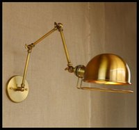 american shopping stores - 120v v American Vintage Wall Lamps Art Decoration E27 Brass Bronze Bar Restaurant Coffee Shop store Industrial apliques pared light