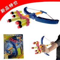 bow and arrow gun - Soft bullet gun Shooting Sports Toy Bow and arrow Toy Set Plastic toys for Children Kids classic toys