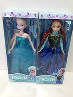 Wholesale 11 inch Frozen Musical Dolls Anna and Princess Elsa with music quot let it go quot Best Music Toys For kids baby girls Christmas Gift by DHL