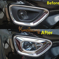 Wholesale A Pair of Front Fog Light Cover For Jeep Grand Cherokee Bezel Trim Chrome Lamp Bumper