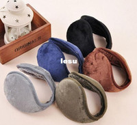 Wholesale 1 Color warm plush cloth Ear Muffs Winter Ear warmers Mens or Womens Fleece Warmer Earmuff