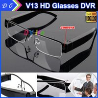 Cheap 2015 FULL HD 1080P SPY Hidden Glasses Camera pccam1920*1080 30fp Video Recorder HOT mini DVR Sunglass 32GB V13 Eyewear DV Camcorder