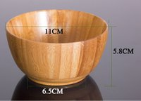 bamboo bowls kitchen - household Tableware Eco Friendly bamboo Wooden bowl Bowls Kitchen meal Rice Soup Bowl Kitchen Bowl bowls