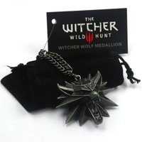 Mexican animal hunting - New Wizard witcher medallion necklace the witcher wild hunt pendant witcher necklace with wolf head pendant NK0003