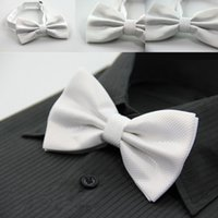 Wholesale High Quality Mens polyester Class Bowtie Adult Elegant Adjustable Necktie Boys Bow Tie Colors available