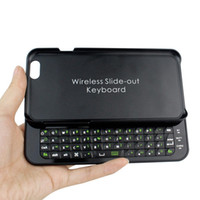 Wholesale Newest Thin Wireless Bluetooth Slide Keyboard Case Cover For Apple iPhone quot Black B1013A