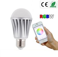 apple rgb - LED wifi smart bulbs lamp led E27 W Apple android control RGBW Wireless lamp colorful lighting