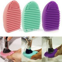 Wholesale Brand Silicone Brush Cleaning Egg Brush egg Cosmetic Brush Cleanser Make up Makeup Brush Cleaner Clean tools free FEDEX DHL