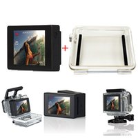 Wholesale Go pro Accessories LCD BacPac Display Screen Waterproof Protective Case Shell Hard Thickening LCD Backdoor Cover For Gopro HD Hero