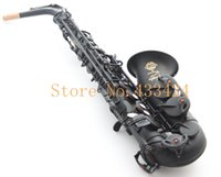Wholesale French Selmer E Flat Alto Saxophone Top Musical Instrument Saxe Pearl Black Carved Process Sax Salma
