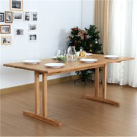 Wholesale Fashion simple solid wood white oak dining table Nordic style dining table