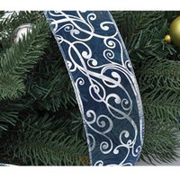 Wholesale 6 cm Christmas Tree Ornament Colored Ribbon Shiny Party Decoration Gift Wrapping H13549