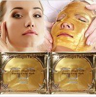 Wholesale cheap Gold Bio Collagen Facial Mask Face Mask Crystal Gold Powder Collagen Facial Mask Moisturizing Anti aging