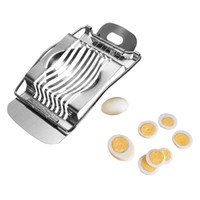 Wholesale Stainless Steel Boiled Egg Slicer Section Cutter Mushroom Tomato Cutter Kitchen Tool New Arrival
