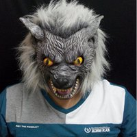 masquerade decorations - Halloween Supplies Masquerade Masks Bar Decoration Wolf Style Latex Mask