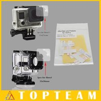 best operations - For Gopro Hero Best Material Lens Protector for GoPro Hero3 for GoPro Hero3 Ultra Clear Easy operation Freeshipping