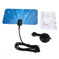 antenna digital signal - Digital Indoor TV HDTV DTV Antenna Flat Design Support Receiving VHF UHF Signals Free Digital Analog Signals High Gain US Plug V1237
