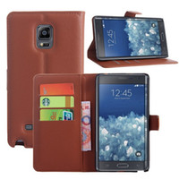 Cheap For samsung galaxy note edge N9150 Litchi Leather Wallet ID Credit Card Holder Stand Flip Case Cover 9 colors choose