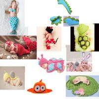 crochet toddler beanie - Baby Infant Handmade Children Hat Newborn Baby Crochet Beanie Toddler Knitted Animal Hat Photography Props D1568 D1571