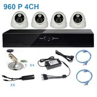 Wholesale 960P MP HD Network DVR CCTV Kit of Surveillance with IP Camera TVL with IR POE Power Supply