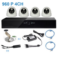 Wholesale 960P MP HD Network DVR Kit with IP Camera TVL with IR POE Power Supply