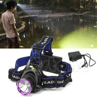 Wholesale New Arrive LM CREE XM L T6 LED Mode Headlight Headlamp Head Lamp Light Torch Charger