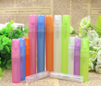 Wholesale 3ml ml ml ml ml colorful Plastic Perfume Spray Bottle Cosmetic Water Sample Tube Refillable Pen Retail Travel Container