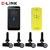Wholesale Bluetooth Car TPMS Tire Pressure Monitoring System With Interna Sensor Support Bar PSI For iphone amp Android System