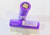 Wholesale 18650 Batteries Purple mAh A IMR purple battery A flat top lithium v battery batteries DHL