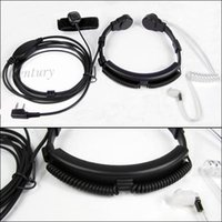 Wholesale Extendable Throat Microphone Mic Earpiece Headset for CB Radio Walkie Talkie BAOFENG UV R UV RE Plus UV B5 UV B6 GT KG UV8D