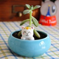 ceramic flower pots - zakka cute kittens creative personalized ceramic flower pot is handmade pots of succulents ornament gift